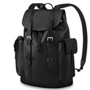 2020 브랜드 배낭 빈티지 배낭 어깨 가방 디자이너 럭셔리 배낭 대용량 크리스토퍼 가방 책가방, 블랙