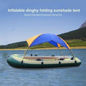 4 Человек Надувная лодка палатка Водонепроницаемая лодка Shelter Байдарка Аксессуары Рыбалка ВС Shade дождь Навес Каяк Парусное маркизы Top