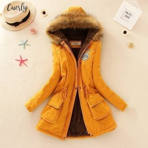 Women Fahion Winter Coat Casual Cotton Red Hooded Parkas Long Thick Ladies Women Clothing Warm Women Jacket Cjt142