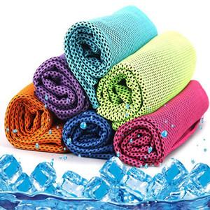 Toalla fría magia toallas frescas de verano Deportes de Hielo Toalla de enfriamiento del color del doble hipotermia toalla fresca Toallas Niños Deportes adulto Nuevo DHC390
