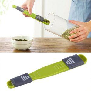Réglable cuillères à mesurer Double End Huit Stalls outil de cuisine cuillère Creative mesure Accueil Measurin Outils DHL gratuit LXL796-1