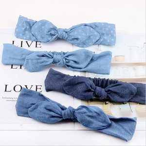 Baby Headbands Denim Bow Hairband Bow Knot Girls Headwrap Wide Baby Turban Newborn Headwear Hair Accessories 4 Colors