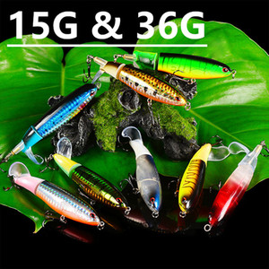 Mixed 8 Color 110mm 15g & 145mm 36g Pencil Fishing Hooks Fishhooks 6 4# Hook Plastic Hard Baits & Lures Pesca Fishing Tackle Accessories z-4