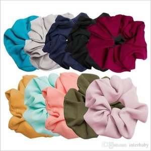 Hairbands Scrunchie Ponytail Hair Holder Rope Chiffon Solid Headdress Elastic Houndstooth Hair Tie Accesorios Scrunchy Headband YP4850