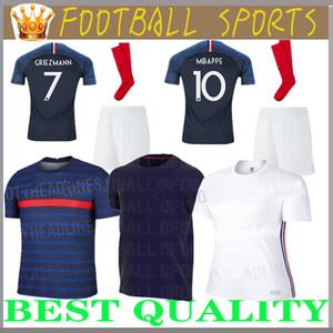 traje adulto Maillot traje adulto de fútbol 2018 barato 2 estrellas dos etoiles Equipo de Francia uniformes kits francés de los jerseys + pant + calcetines