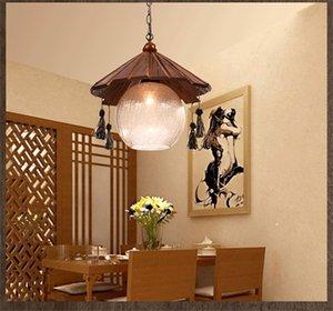 중국어 골동품 바 싱글 헤드 샹들리에 목조 거실 펜던트 커피 숍 의류 매장 장식 조명