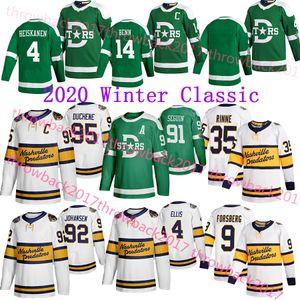 Nashville Predators 2020 Inverno clássico Jersey Dallas Stars 95 Duchene 35 Rinne 9 Forsberg 14 Benn 91 Tyler Seguin 4 Ellis Hockey Jersey