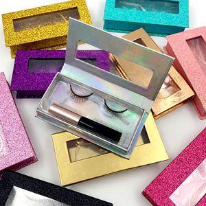 Magnetic Liquid Eyeliner & Magnetic False Eyelashes & 5 Magnet False Eyelashes Set