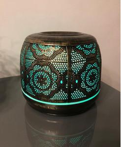 Bebek Office Ev için Essential Oil 7 Renk Kokular lambası Nemlendirici için koku difüzörü 500ml bronz metal Aromaterapi Difüzör