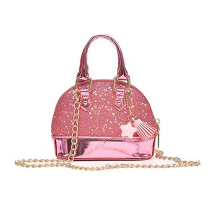 Little Girls' Sequins Handbags Princess Crossbody Bag Mini Satchel Gifts For Girls Toddler Kids (Pink)