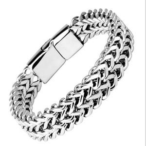 2020 ювелирных изделия мужских роскошных браслетов мужчин из нержавеющей стали оптовых 925 стерлингового серебра европейского браслета кубинского звена цепи змейки теннисных цепи
