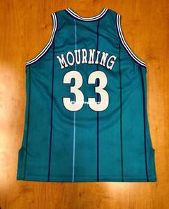 Ucuz Vintage Retro 1995 Alonzo Mourning NOK En Şampiyonu Jersey yürüteç Erkekler XS-5XL.6XL gömlek dikişli basketbol formaları Retro NCAA