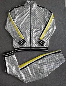 19ss diseñador de moda hombre conjunto de chándal con cremallera sudaderas con capucha chaqueta Chándal chándal dos piezas conjunto de entrenamiento Jogging Sweat Track Trajes HTLB