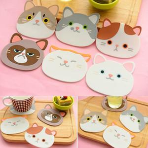Cute Cat Pattern Sottobicchiere durevole Pad tavola Silicone Isolamento Placemat Cup Ciotola Mat Stoviglie Cuscino Home Decor