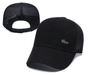 Estilo de cocodrilo Clásico Deporte Gorras de béisbol Gorras de golf de alta calidad Sombrero para el sol para hombres y mujeres 16 colores Ajustable Snapback Cap Mejor papá papá