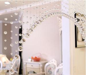 Lusso Perle di vetro della porta della stringa della nappa della tenda di nozze divisorio pannello decorativo sinistro e destro Biparting aperto Bead bea vetro corda