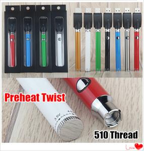 Sıcak Ön ısıtma 510 Vartridge O Vape Pen için Dip twist Değişken Gerilim 2.0-4.0V 380mAh Öncesi ısı VV LO 510 Pil Alt Kadran evod