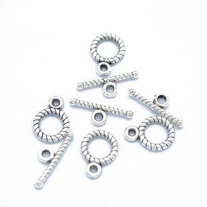 500 jogos / lote Antique prata OT fivela de alternância fecho ganchos jóias fazendo descobertas componentes acessórios DIY para as mulheres