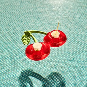 PVC Inflatable Drink Cup Holder Donut Flamingo Watermelon Lemon Shaped Floating Mat Floating Pool Coaster