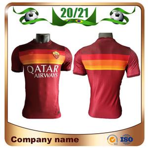 20/21 Roma Player Versiyon 9. Dzeko Futbol Forma 2020 ev Kırmızı # 16 DE.ROSSI Futbol Gömlek Nainggolan EL Shaarawy Futbol üniforma Satış