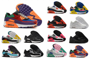 Top 90 Running Shoes Shoes Air Sports Homens Mulheres anos 90 causais sapatos brancos Infrared South Beach Triplo Preto Outdoor Tênis Athletic