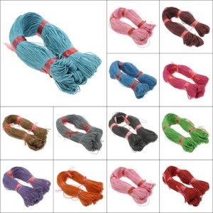 Diy Bilezik Kolye için 17 Renkler Naylon Kordon Konu Çince Knot makrome örgülü 1mm * 380 milyon Püsküller Boncuk String Konu Halat