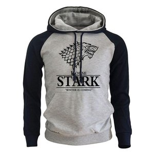 2018 Raglan Hoodies For Men House Stark The Song of Ice and Fire Winter Is Coming Men's Sportswear Game Of Thrones Sweatshirt Y200519