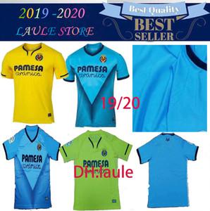 Tayland Yeni 19 20 Villarreal CF Ev Futbol Formaları 2019 Villarreal Uzakta Yeşil Futbol Gömlek 2020 Villarreal 3rd Gökyüzü Mavi Futbol Üniforma