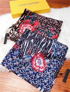Boyut 65-180cmLuxury Kadınlar İpek şifon Atkılar Tasarımcı Marka Four Seasons Turizm Eşarp Yumuşak Moda Uzun Baskı Şal Çanta ekle