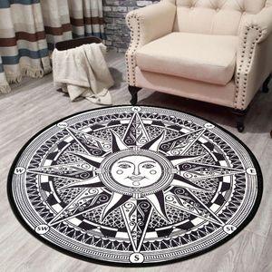 Manteau circulaire Tapis Chambre Soleil Motif Paillasson Salon Chambre Ordinateur chaise pivotante Hanging panier Mat Tapis Livraison gratuite