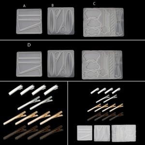 Günstige Schmuck Werkzeug Ausrüstung Handgefertigte Acryl HaarBarrettes Harzform Geometrische Form Alligator Hair Clips UV-Epoxidharz-Mold