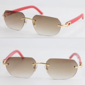 Бесплатная доставка Vintage Конструктор Мужчины Женщины Rimless Красный Дощатые очки Мужчины солнцезащитные очки вождение мужской спорт Cat глаз очки мужские очки