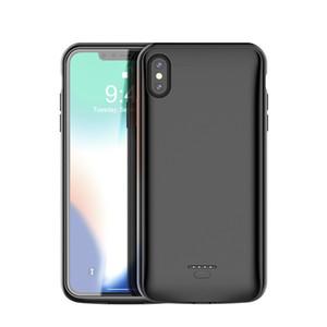Carregador premium case para iphone x xs max xr 6 s 7 8 plus portátil banco de potência do telefone fino sem fio carga case bateria externa
