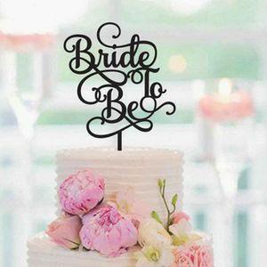 Sposa da essere, Torta nuziale Topper, nuziale doccia Bachelorette Cake Topper, Bridal Shower Decorazione, Decorazione per la festa nuziale