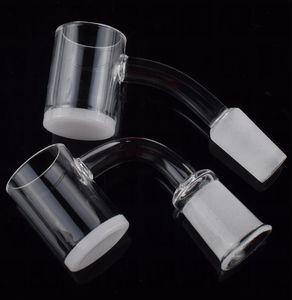 DHL Shipping !! New 25mm OD 4mm thick white opaque bottom quartz banger 14mm female male nail Flat Top 10mm 14mm 18mm quartz nail