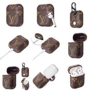 designer airpods 3 cases for Apple Airpods Pro PU Cover Fashion Anti Lost Hook Clasp Keychain for Airpod Case free shipping
