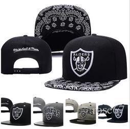 L'alta qualità calda di vendite Oakland Raiders Snap indietro ricoprono Uomini Donne Copricapo Dicer Nero Grigio estivi Cappelli sportivo regolabile Baseball Caps Chapeau