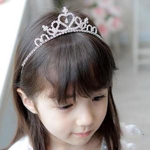 Rhinestone Tiara de la niña diadema princesa reina venda elástico del pelo de los niños flor de la corona Headwear accesorios principales Regalo de la muchacha