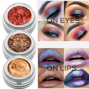 Yeni tasarımcı aydınlık kadınlar ıslak göz farı kozmetik parıltı paleti makyaj sıvı göz farı 14 renk monokroma