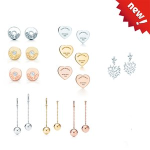 Fashion 925 sterling silver earrings high quality woman jewelry wedding bridal party anniversary earrings simple classic woman gift