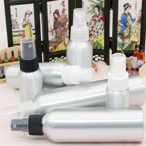 Aluminio spray atomizador botella 30ml-500ml aerosol de la niebla botellas recargables vacíos del metal botella de perfume cosmética Botellas de embalaje GGA3467-2