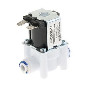 1/4 인치 12V 입구 공급 물 솔레노이드 밸브 N / C 정상 폐쇄의 경우 RO 시스템