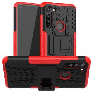 Armadura suporte do telefone capa para Motorola Moto G Rápido / Motorola Moto G8 Power Lite G Poder E7 E 2020 Hard Case híbrido pele TPU tampa protetora