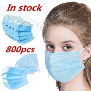 Disponibile! 800 Maschere PCS monouso Viso spesse maschere a 3 strati con Earloops per Salon, casa un uso confortevole in magazzino Maschera