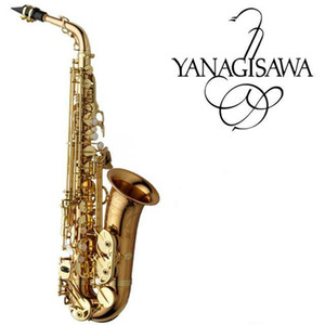 Top Marca New YANAGISAWA Alto Saxophone A-992 WO20 ouro laca Sax profissionais Bocal Patches Pads Reeds Dobre Neck