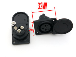 50pcs 3PIN XLR painel tomada de solda para o conector de energia MIC