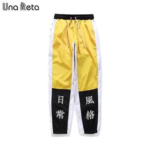 Una Reta Hip-Hop Pantolon Erkek Yeni Moda Çince Karakter Baskı Harem Pantolon Streetwear Erkekler Rahat Joggers Pantolon Eşofman Y190509