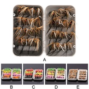 32 pcs kit Dry Wet Flies Nymphs 10# Hook Ice Lures Artificial Bait Ice Fishing Fly Fishing Lure Flies Trout Lures