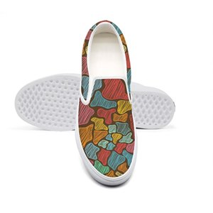 Casual colorful giraffe skin painting Unisex canvas, unique non-slip shoes,design print classic limited,edition Bbq Fat pig With Grill