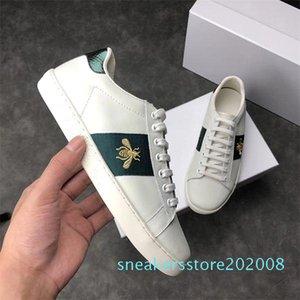 Lüks İtalya Arı Yeşil Kırmızı Çizgili Erkekler Kadınlar Sneaker Günlük Ayakkabılar Ucuz Trendy Ace Moda Tasarımcısı Yürüyüş Eğitmenler Chaussures AF33